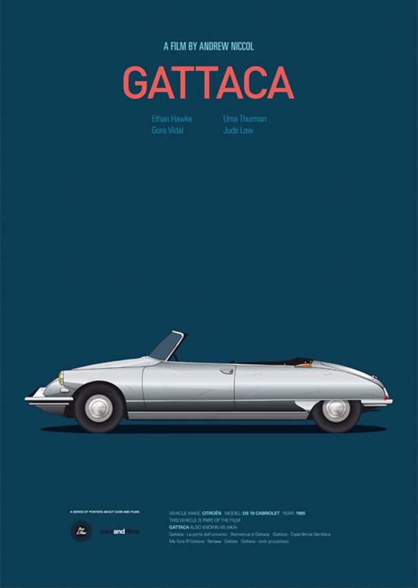Posters ταινιών με διάσημα αυτοκίνητα (8)