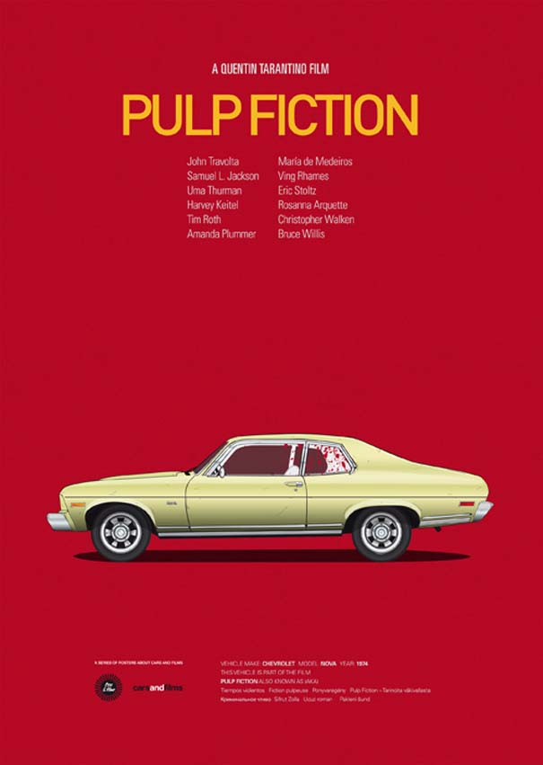 Posters ταινιών με διάσημα αυτοκίνητα (10)