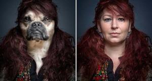 Σκύλοι φωτογραφίζονται με τα ρούχα του ιδιοκτήτη τους