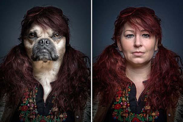 Σκύλοι φωτογραφίζονται με τα ρούχα του ιδιοκτήτη τους (1)