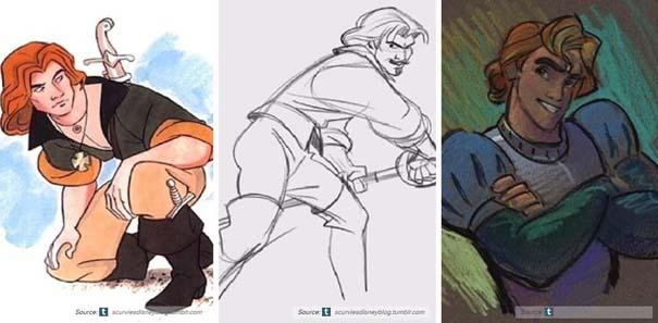 Χαρακτήρες της Disney που θα μπορούσαν να είναι τελείως διαφορετικοί (13)
