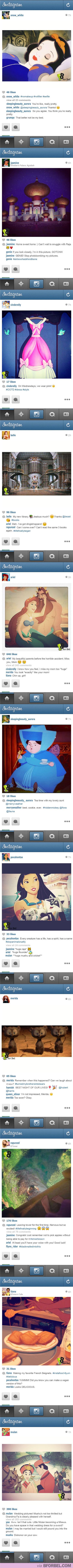 Αν οι πριγκίπισσες της Disney είχαν Instagram