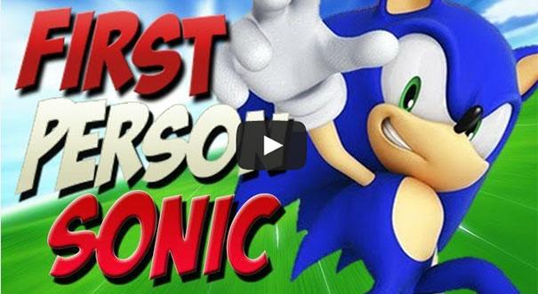 Αν το Sonic παιζόταν σε πρώτο πρόσωπο