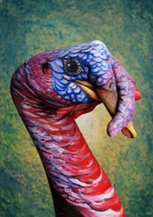 Απίστευτες ζωγραφιές ζώων σε ανθρώπινα χέρια (12)