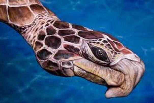 Απίστευτες ζωγραφιές ζώων σε ανθρώπινα χέρια (7)