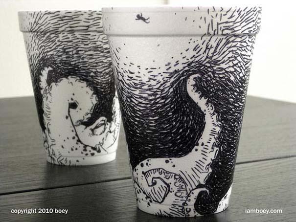 Εντυπωσιακή τέχνη σε ποτήρια του καφέ (4)
