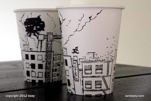 Εντυπωσιακή τέχνη σε ποτήρια του καφέ (5)