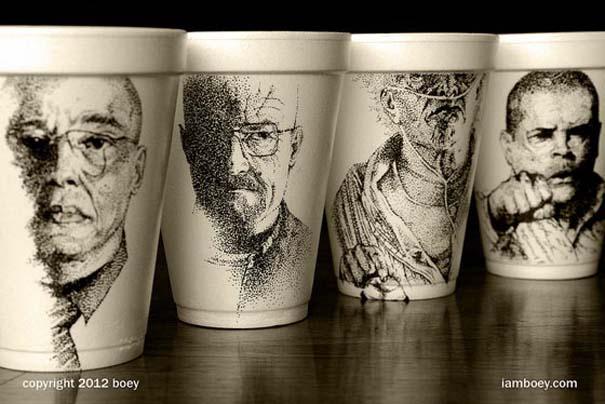 Εντυπωσιακή τέχνη σε ποτήρια του καφέ (6)