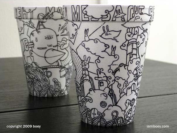 Εντυπωσιακή τέχνη σε ποτήρια του καφέ (7)