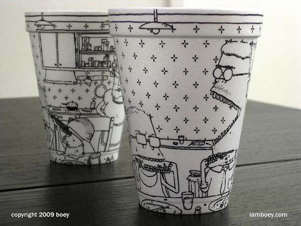 Εντυπωσιακή τέχνη σε ποτήρια του καφέ (8)