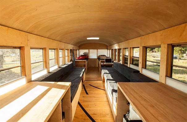 Φοιτητής κατασκεύασε εντυπωσιακό διαμέρισμα σε παλιό λεωφορείο (4)
