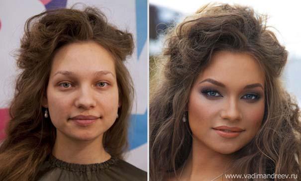 Γυναίκες με / χωρίς μακιγιάζ (3)