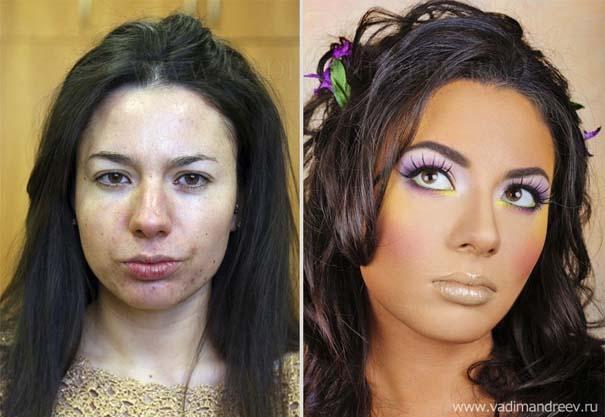 Γυναίκες με / χωρίς μακιγιάζ (4)