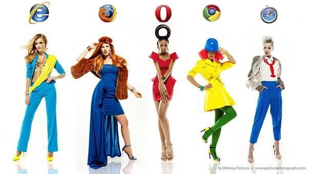 Internet Browsers με την μορφή μοντέλων (1)