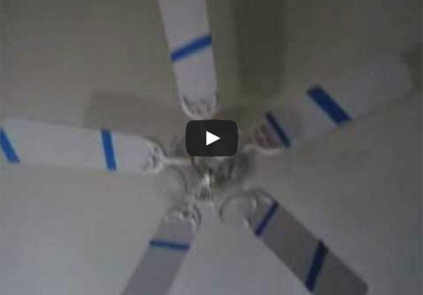 Πως να μετατρέψετε έναν ανεμιστήρα οροφής σε... οφθαλμαπάτη