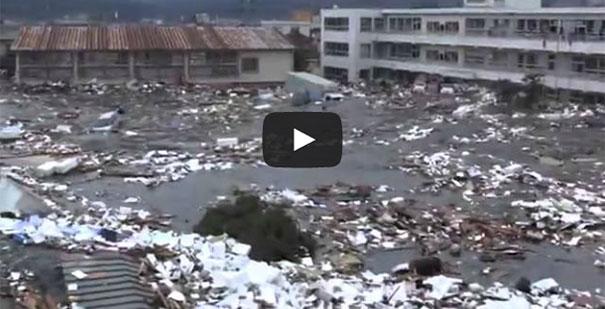 Νέο σοκαριστικό βίντεο από το Τσουνάμι του 2011 στην Ιαπωνία