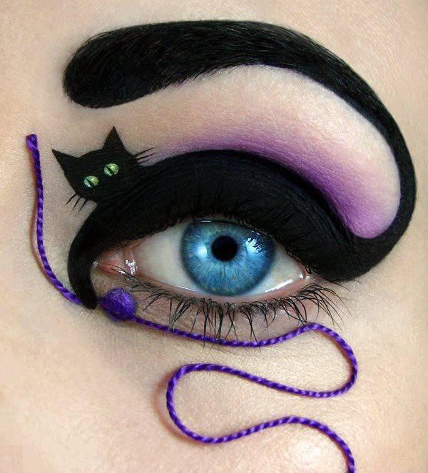 Μακιγιάζ για πραγματικά γατίσιο βλέμμα | Φωτογραφία της ημέρας