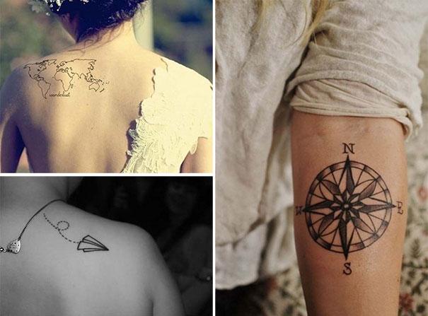 Τατουάζ για λάτρεις των ταξιδιών