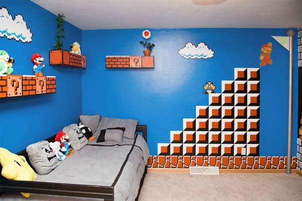 Απίστευτο δωμάτιο με διακόσμηση Super Mario (1)