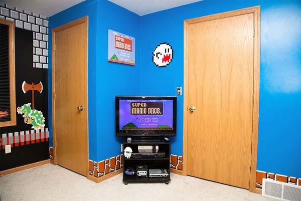 Απίστευτο δωμάτιο με διακόσμηση Super Mario (2)