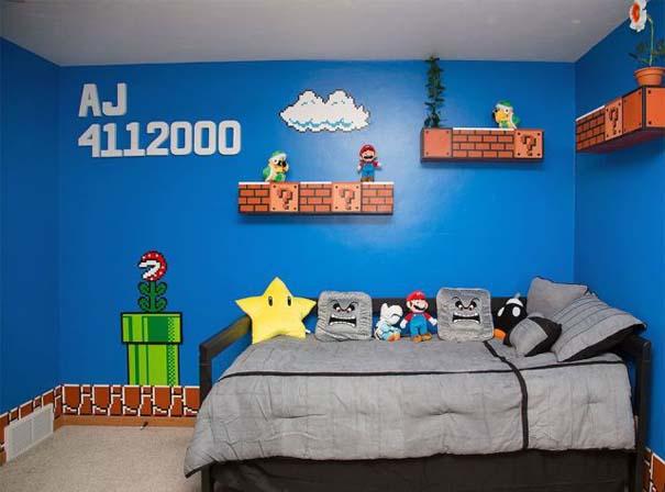 Απίστευτο δωμάτιο με διακόσμηση Super Mario (3)
