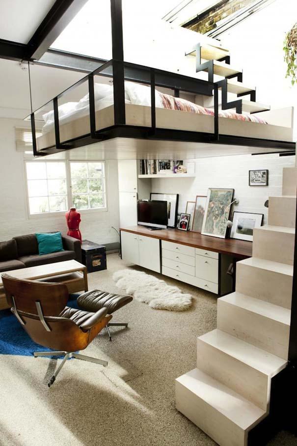 Διαμέρισμα στο Λονδίνο με κρεμαστό κρεβάτι (2)