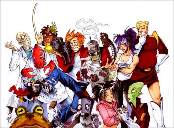 Διάσημοι χαρακτήρες καρτούν με την μορφή anime (5)