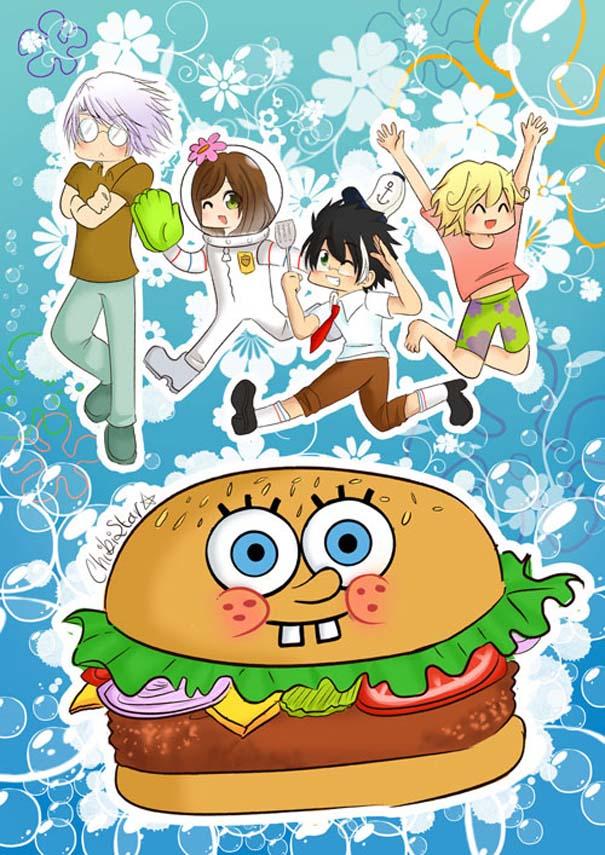 Διάσημοι χαρακτήρες καρτούν με την μορφή anime (12)