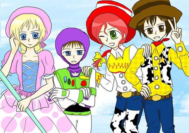 Διάσημοι χαρακτήρες καρτούν με την μορφή anime (14)