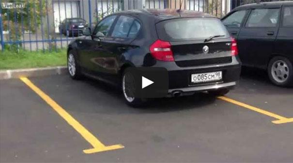 Ένα ενδιαφέρον parking στη Ρωσία