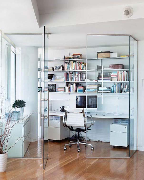 Εντυπωσιακά και μοντέρνα γραφεία στο σπίτι (9)