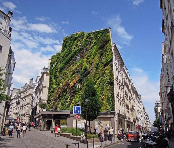 Ένας εντυπωσιακός κάθετος κήπος στο Παρίσι (4)