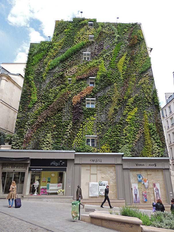 Ένας εντυπωσιακός κάθετος κήπος στο Παρίσι (6)