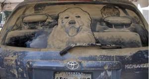 25 απίστευτα έργα τέχνης σε σκονισμένα αυτοκίνητα