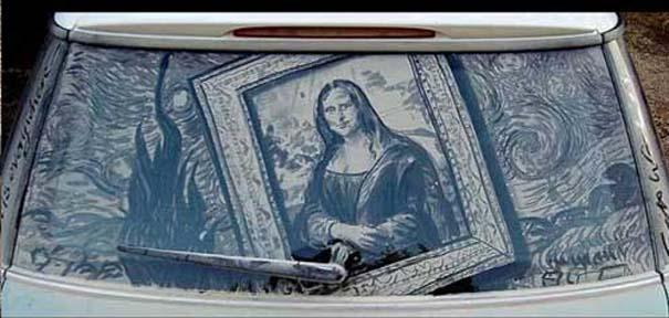 Έργα τέχνης σε σκονισμένα αυτοκίνητα (3)