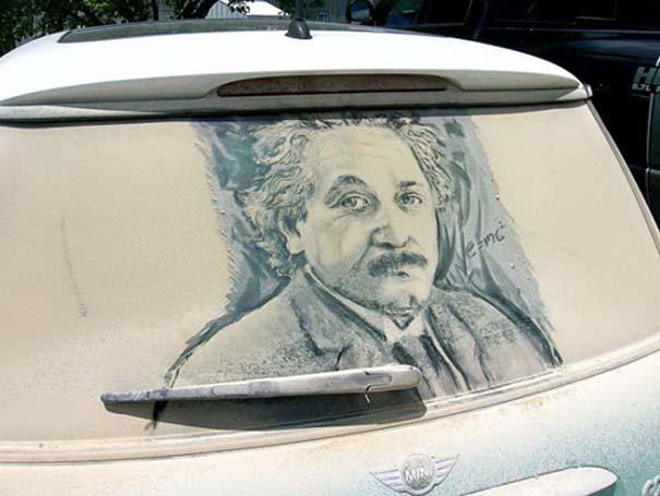 Έργα τέχνης σε σκονισμένα αυτοκίνητα (4)