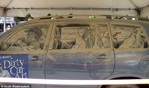 Έργα τέχνης σε σκονισμένα αυτοκίνητα (11)