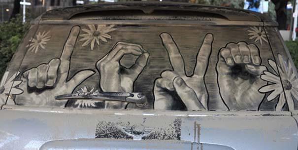 Έργα τέχνης σε σκονισμένα αυτοκίνητα (23)
