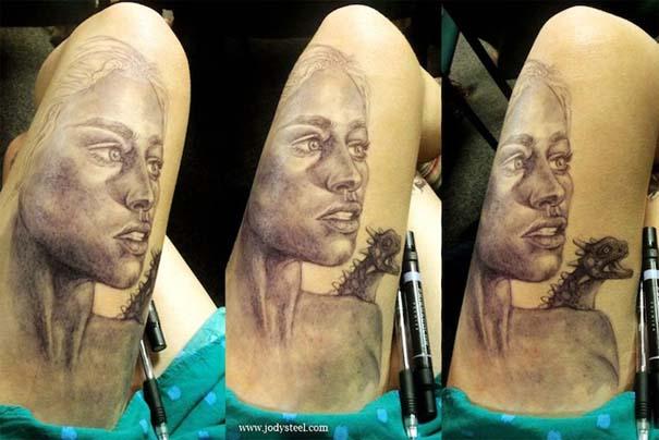 Φοιτήτρια ζωγραφίζει απίστευτα σκίτσα... στα μπούτια της! (6)