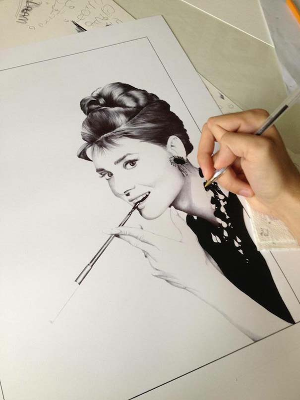 Φωτορεαλιστικά πορτραίτα με στυλό (1)