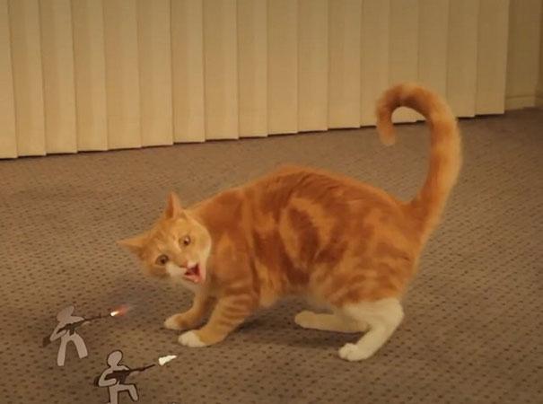 Γάτα εναντίον χάρτινου στρατού