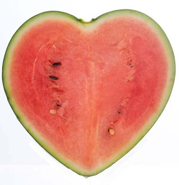 Καρπούζια σε σχήμα καρδιάς (1)
