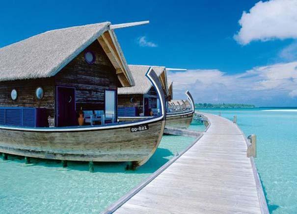 Ξενοδοχείο από βάρκες στο Cocoa Island των Μαλδίβων (5)