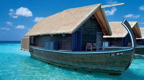 Ξενοδοχείο από βάρκες στο Cocoa Island των Μαλδίβων (7)