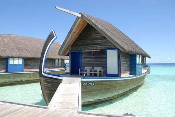 Ξενοδοχείο από βάρκες στο Cocoa Island των Μαλδίβων (9)