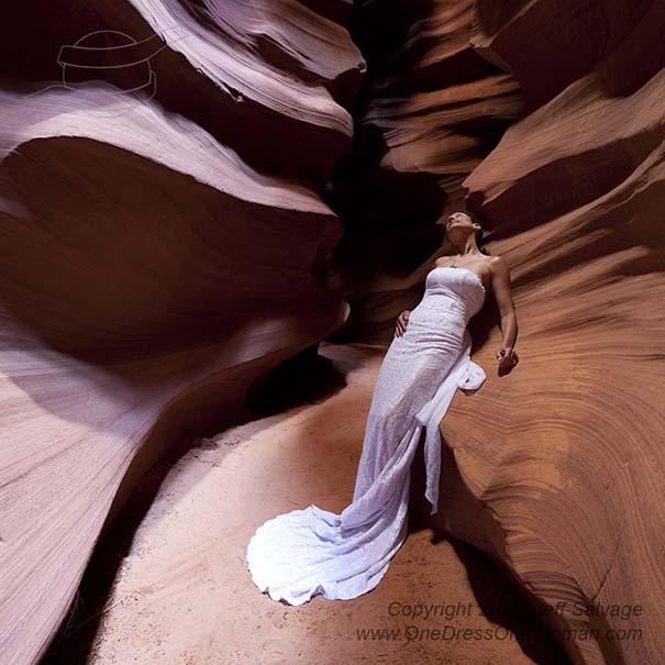 Μια νύφη φωτογραφίζεται με το νυφικό της σε όλο τον κόσμο (1)