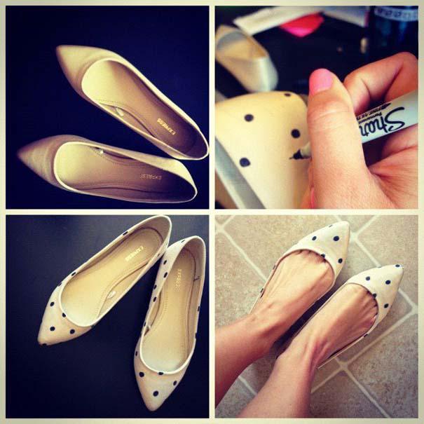 Παπούτσια διακοσμημένα με μαρκαδόρο (1)