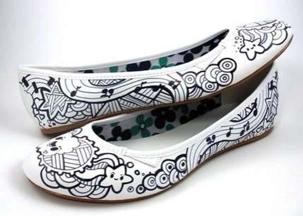 Παπούτσια διακοσμημένα με μαρκαδόρο (3)
