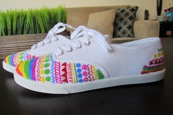 Παπούτσια διακοσμημένα με μαρκαδόρο (6)