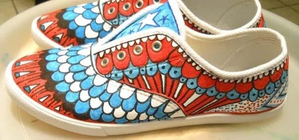 Παπούτσια διακοσμημένα με μαρκαδόρο (7)